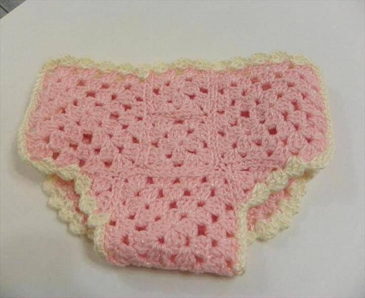 Crochet Diaper Cover Granny Square Pattern