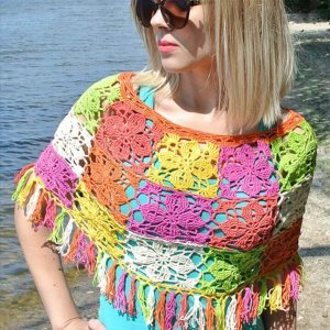 colocrdul crochet poncho