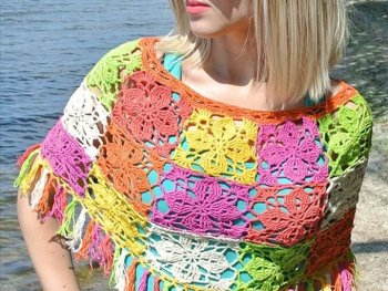 colocrdul crochet poncho