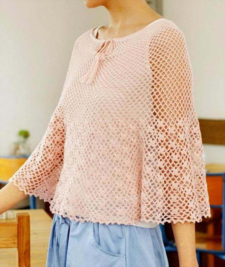 Crochet Poncho Pattern Free - Beautiful and Simple