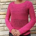 crochet a sweater - raspberry stich stripes