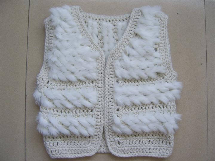 of white crochet vest