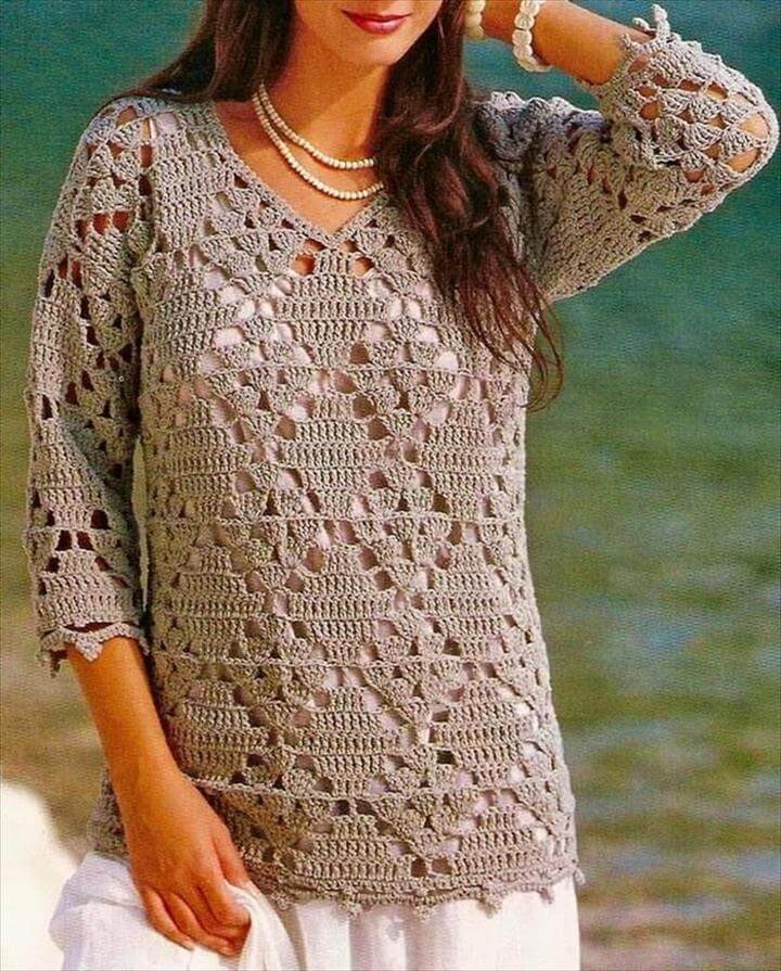 20 Awesome Crochet Sweaters For Womens