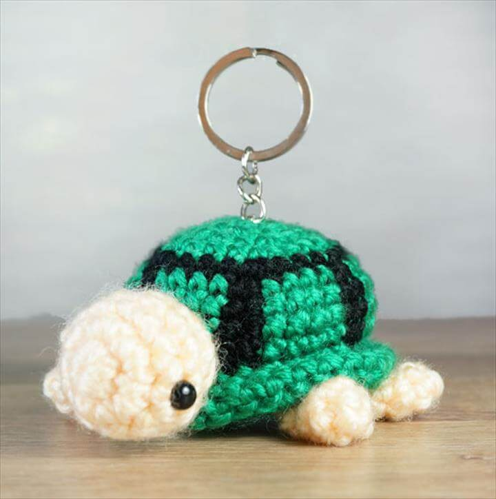 Crochet Turtle Keychain