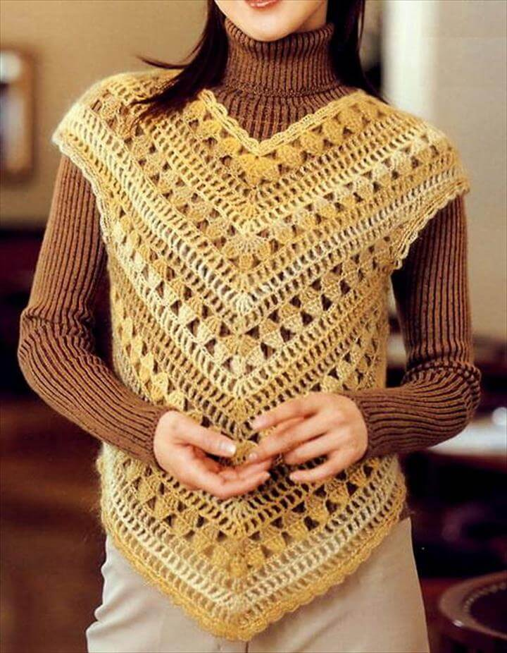 20 Stylish Crochet Sweater Vest Design | DIY to Make