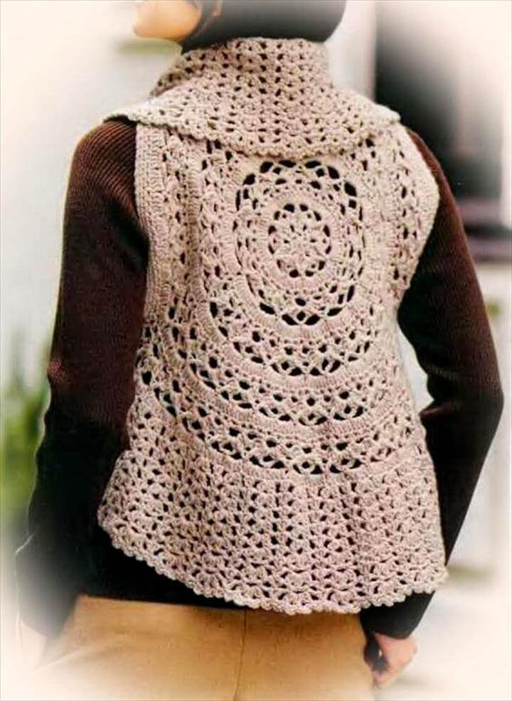Crochet Vest Pattern For Women - Circle Vest