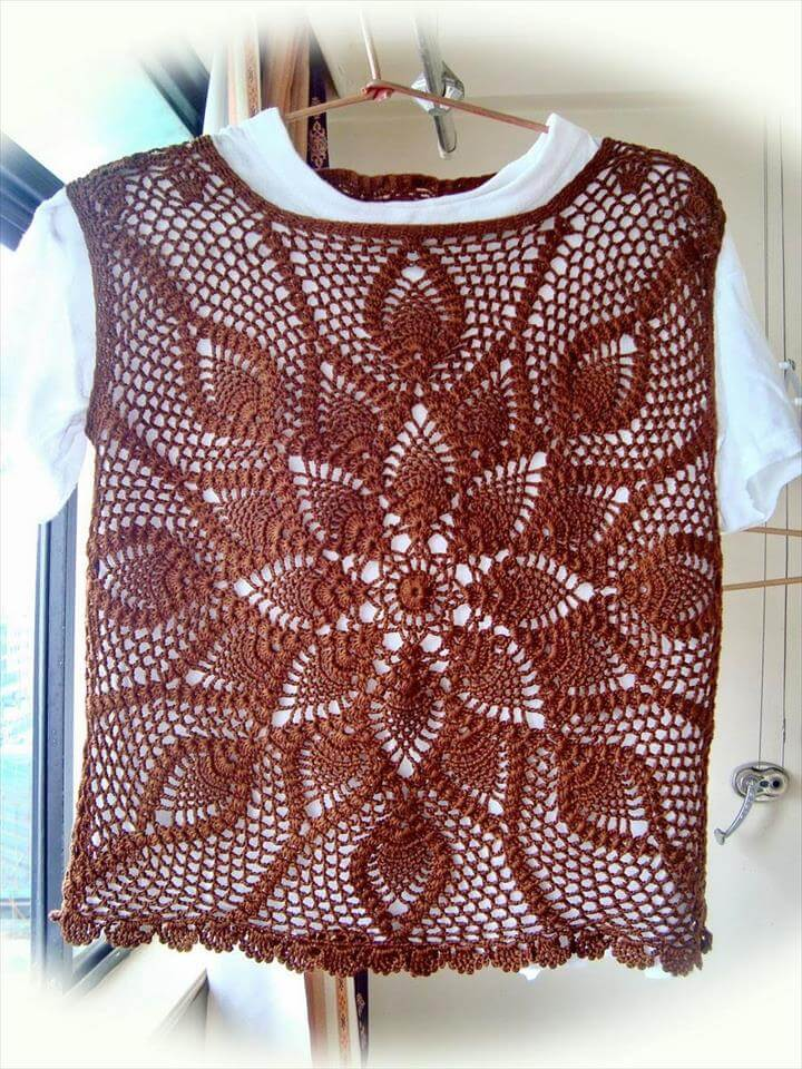 Free Crochet Pattern Lace Vest : 20 Stylish Crochet Sweater Vest Design DIY to Make
