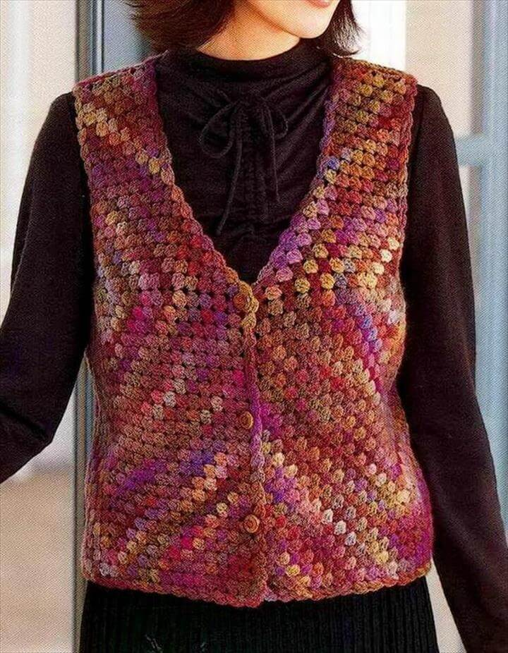 Crochet Vest - Wonderful Classic Vest for Women
