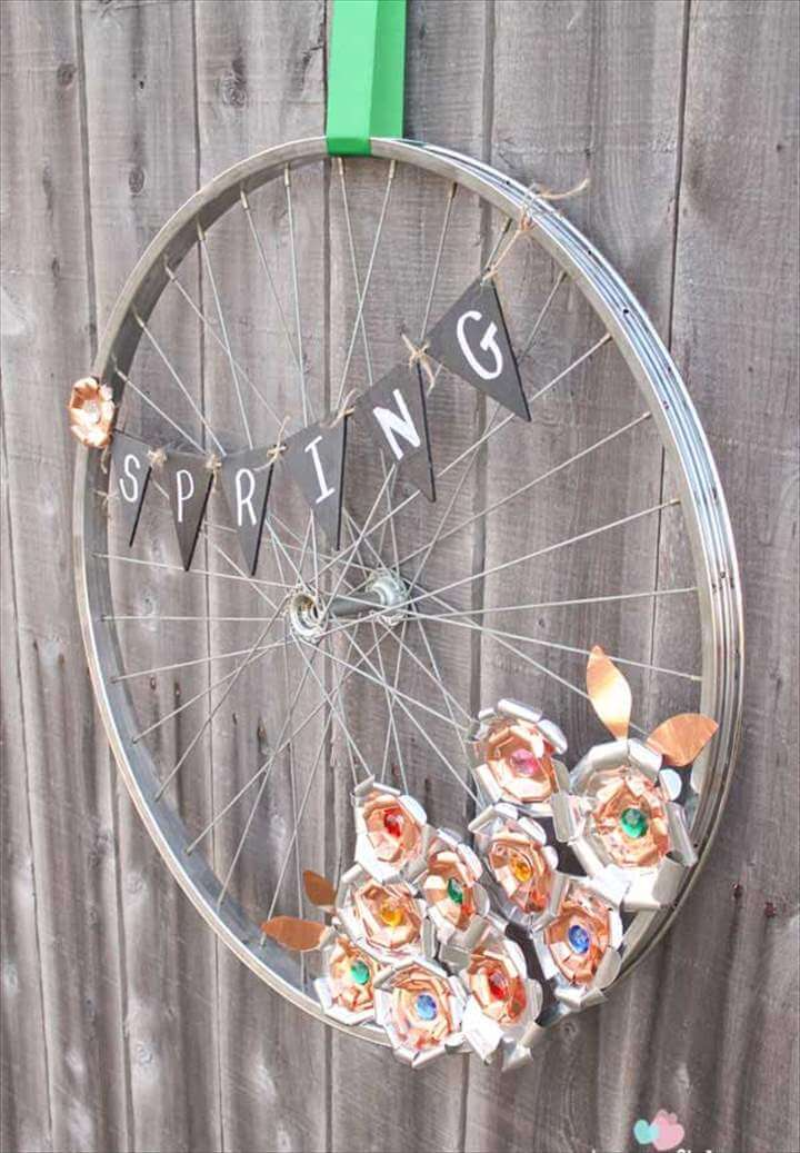 Brilliant DIY Ways of Reusing Old Bike Wheels