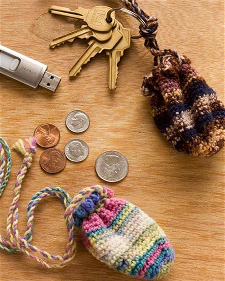 62 Easy Handmade Fun Crochet Pattern Keychains DIY to Make