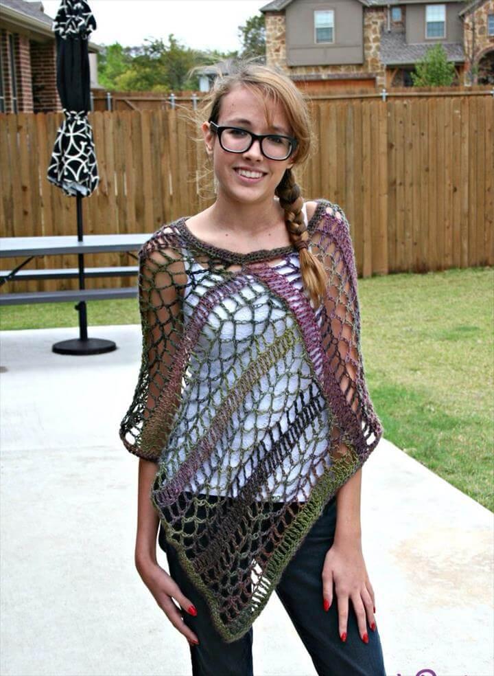 Crochet poncho, Ponchos and Poncho patterns