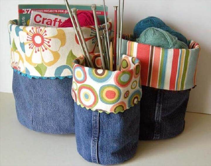 DIY Denim Bins