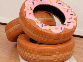 Tire Donuts Display