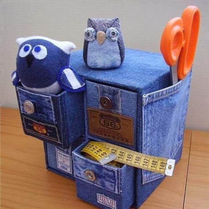 Interesting Small Denim Drawers And Toys