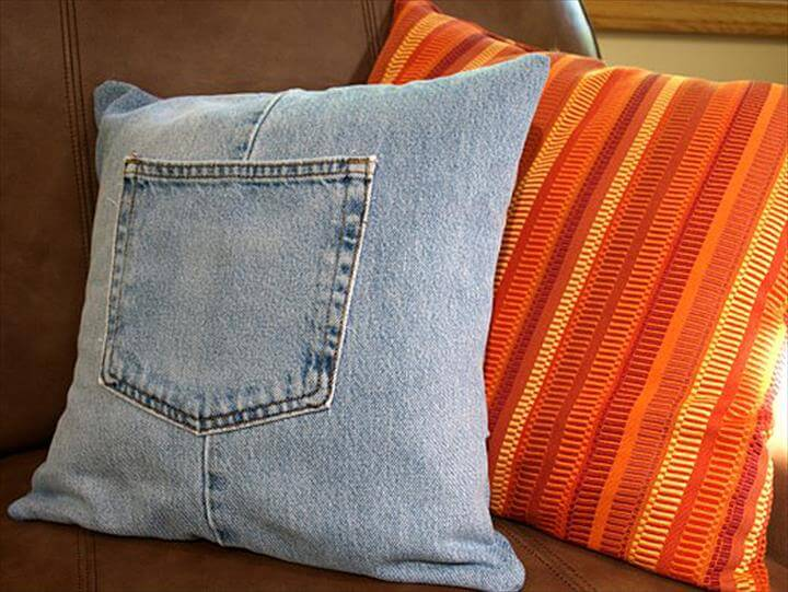 amazing pillow from jeans
