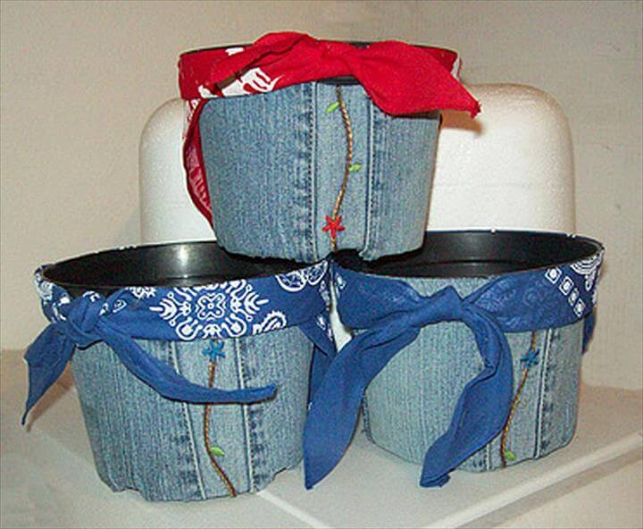 Denim Pots Made From Jeans