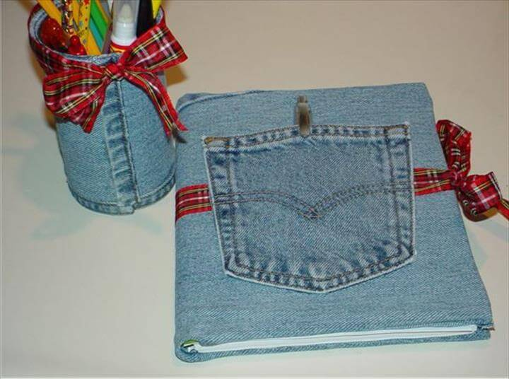 denim shirt note book idea