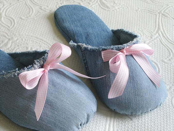 denim slipper