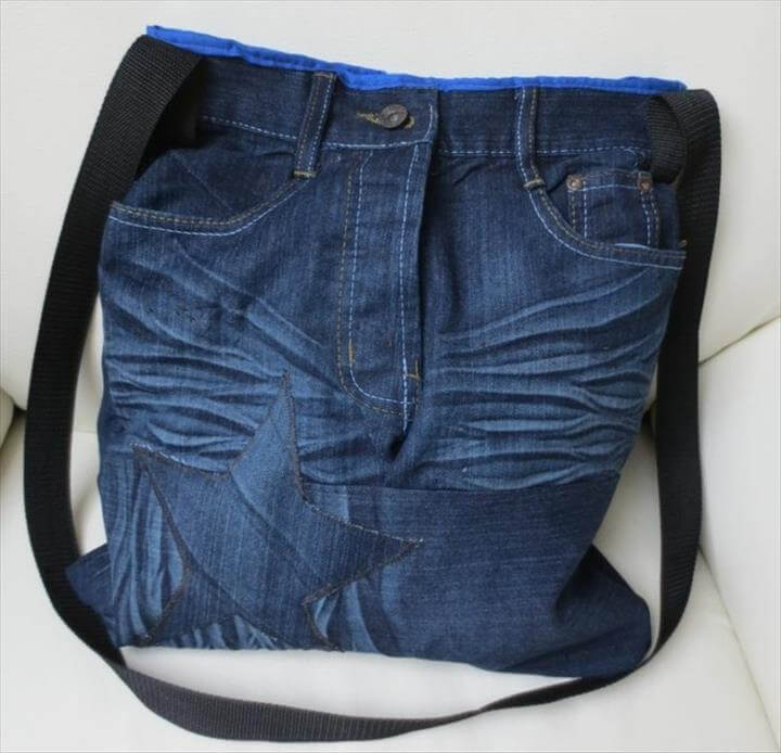 old jeans sew easy Cardmaking ideas bag reuse