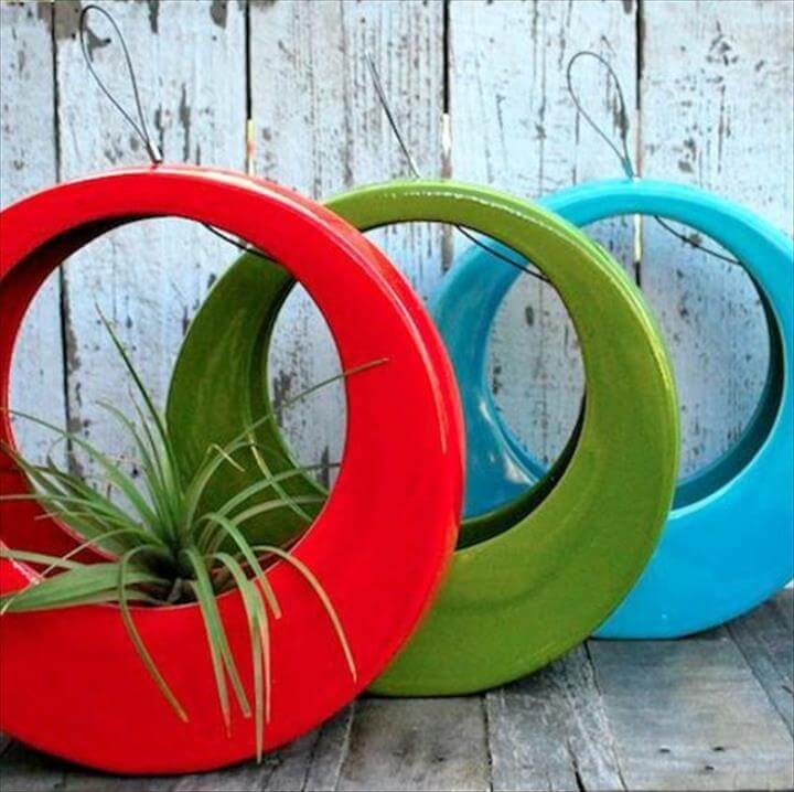 tire flower pot design