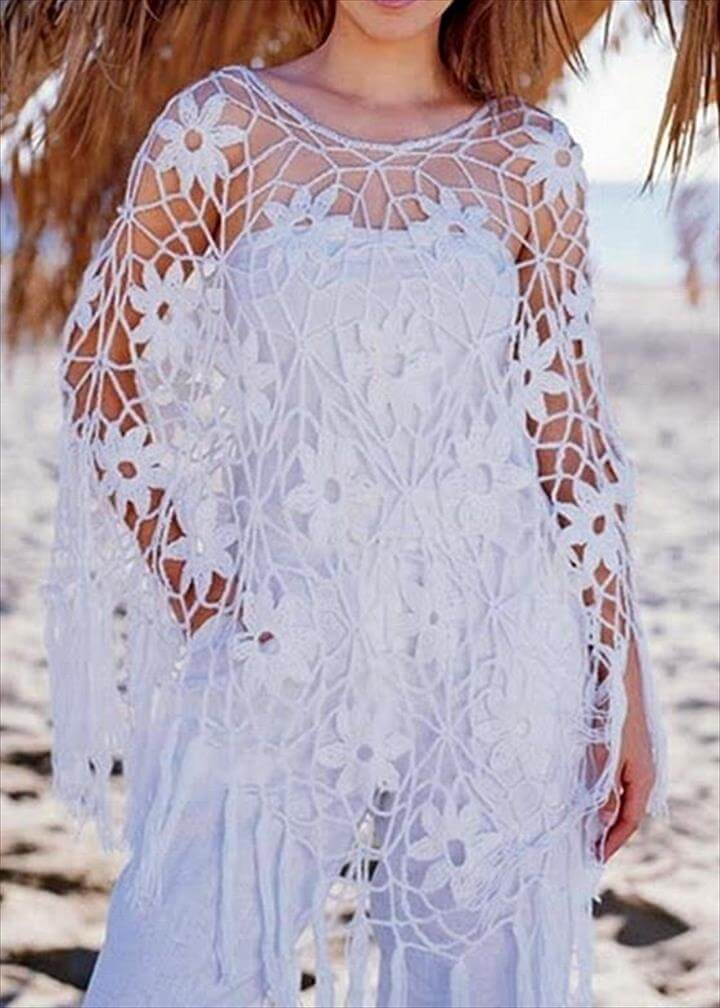 Crochet Poncho Pattern - Gorgeous Summer