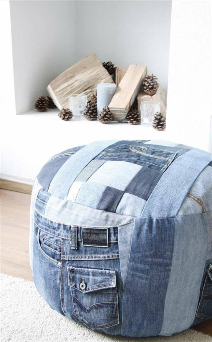 simple craft ideas recycle old jeans