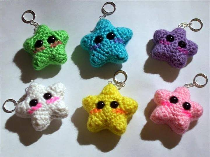 Amigurumi Crochet Keychain : Easy handmade fun crochet pattern keychains diy to make