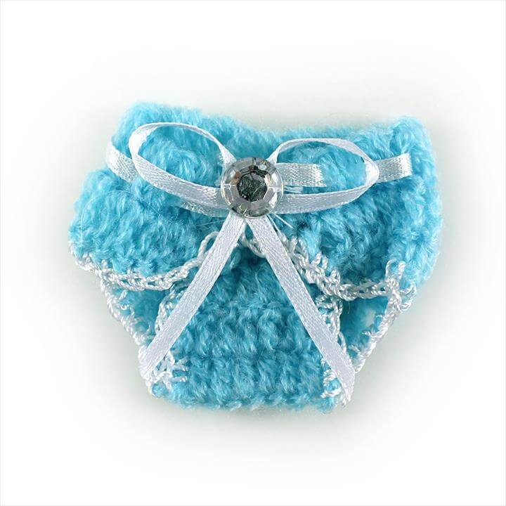 Knit Crochet Baby Diaper Baby Shower Decoration Favor