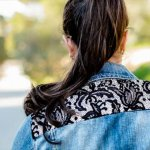 Lace denim jacket DIY