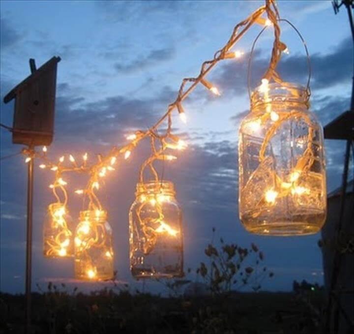 handmade mason jar lighting