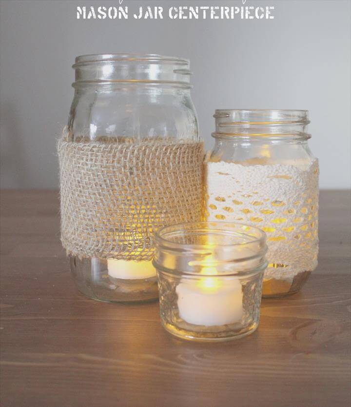 Mason Jar Centerpiece DIY