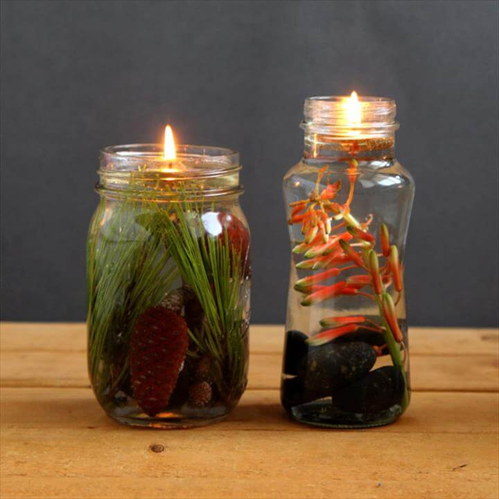 diy mason jar oil lamps, crafts, lighting, mason jars, repurposing upcycling