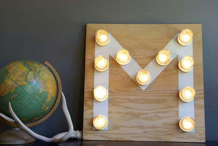Monogram Marquee Light Display
