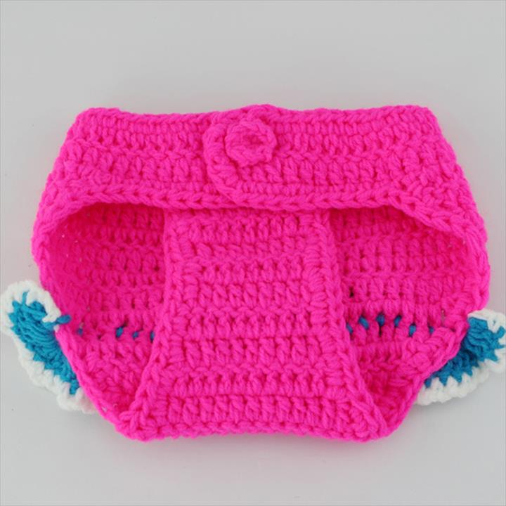 New Crochet Baby Costume Set Knit Baby Girl Hat + Diaper Outfit Photography Props Newborn
