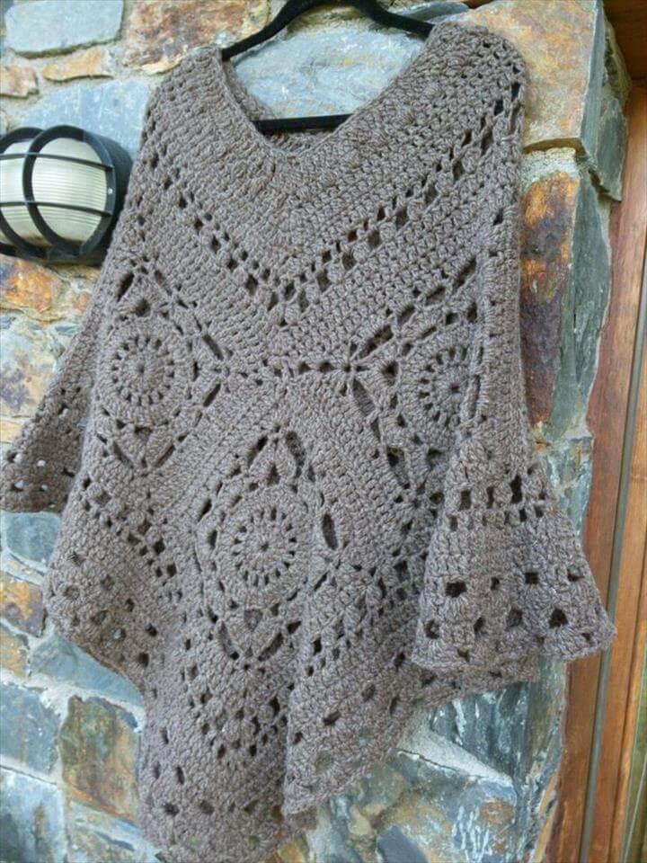 very nice color crochet poncho
