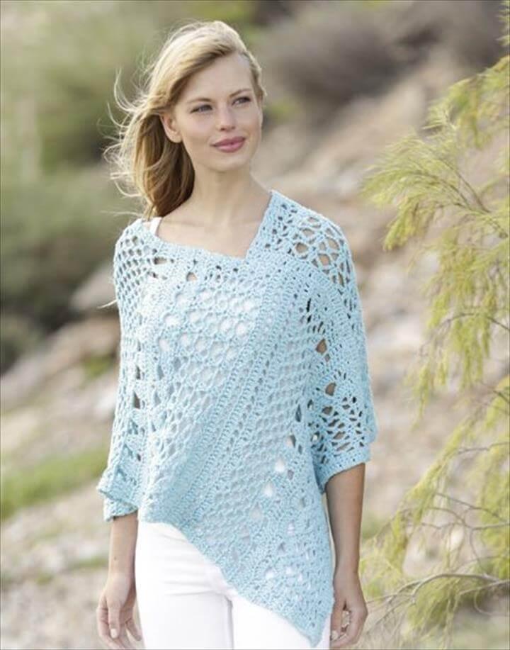 crochet poncho design