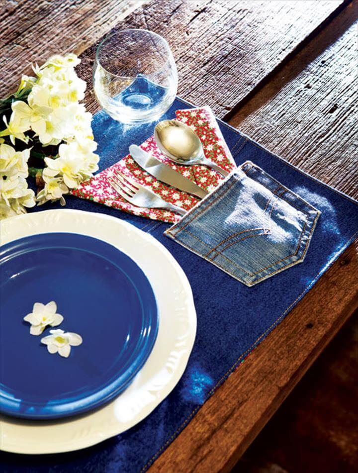 Recycling denim jeans – Place mat