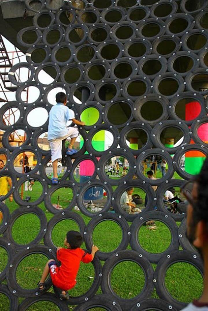 self-made playground