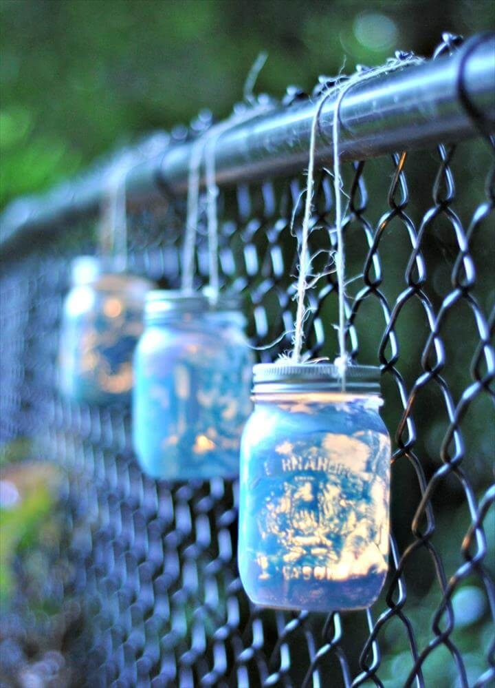 Painted Mason Jar Lantern