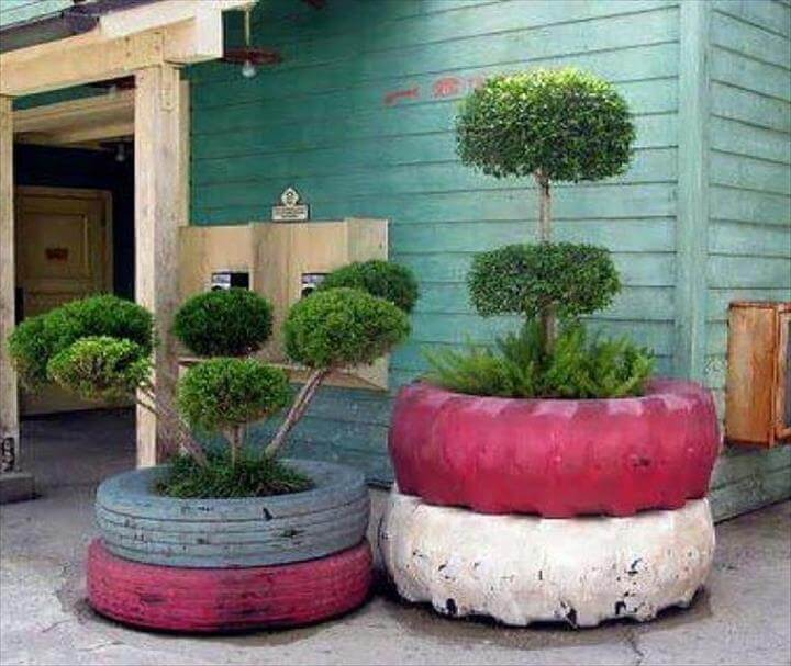 DIY Old Tires Designs DIY Old Tires Ideas