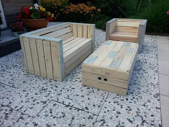 22 Cheap Easy Pallet Outdoor Furniture Diy To Make