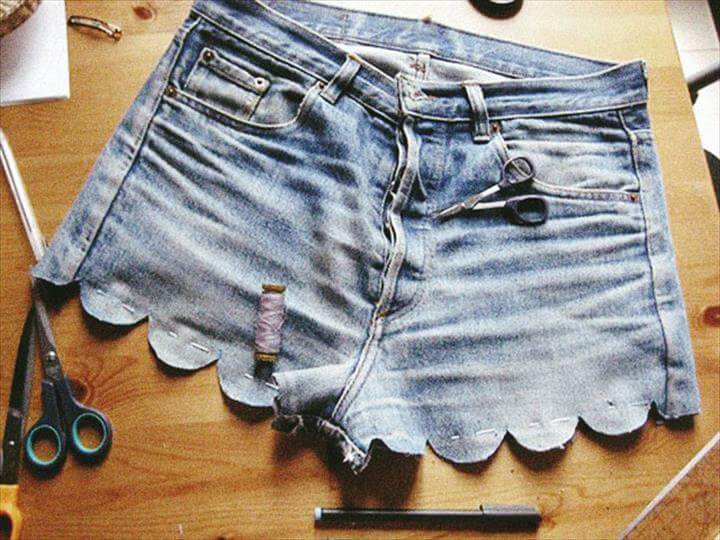 simple jeans shorts