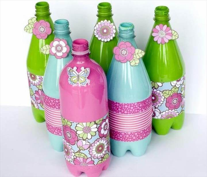 20 handmade recycled bottle ideas diy to make for Recycled products from plastic bottles