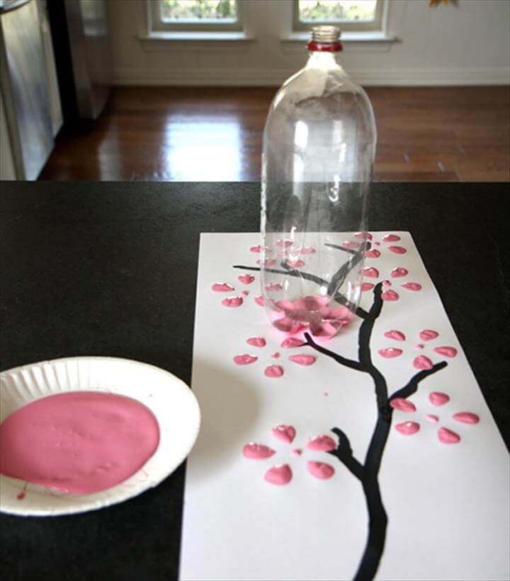 Plastic Bottle Painting Idea: