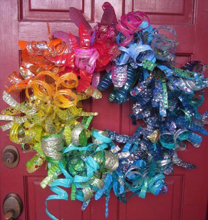 bottle wreath