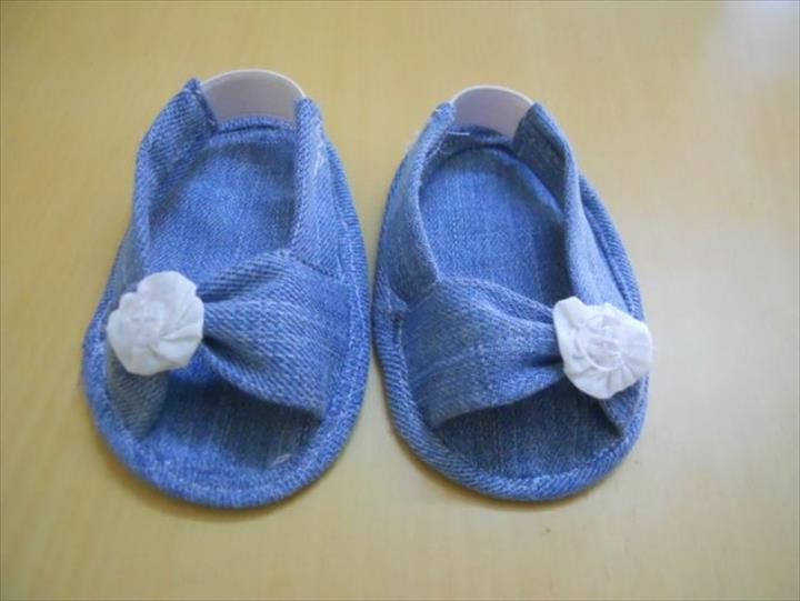 Recycled Old Jeans Stylish Baby Shoes