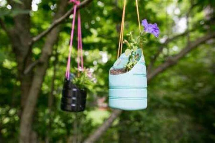 Recycled Plastic Bottles Flower Pots Hanging & 20 Handmade Recycled Bottle Ideas