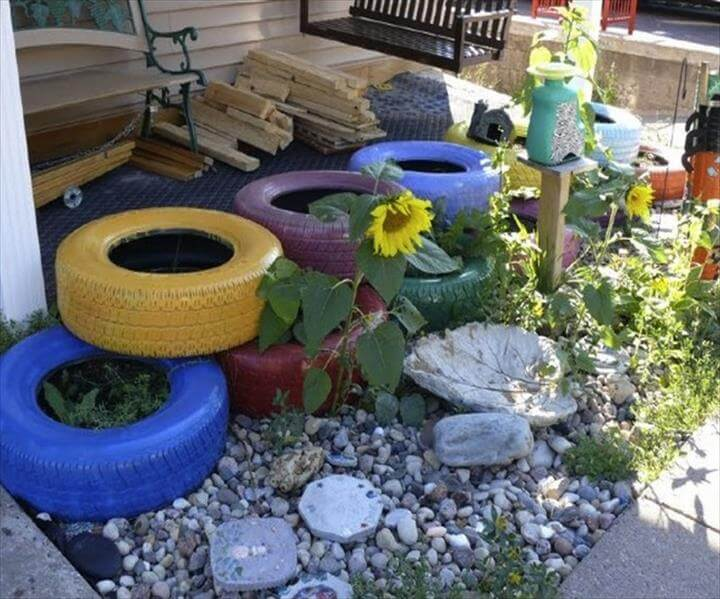DIY Recycled Old Tires Ideas
