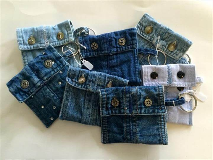 old denim mini purse