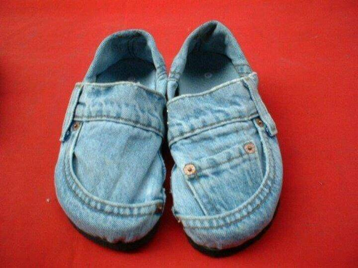 Reuse old jeans shoes